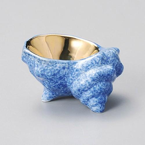 15205-220 サザエ金付珍味|業務用食器カタログ陶里30号