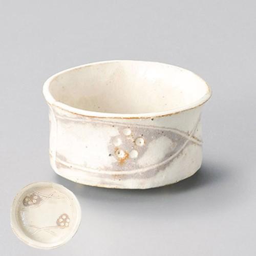 15220-180 手造り粉引華紋(土物)帯合せ丸小鉢|業務用食器カタログ陶里30号