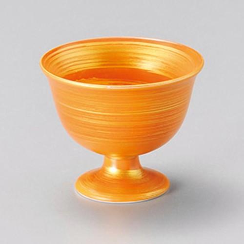 15224-400 茶金彩高台小付|業務用食器カタログ陶里30号