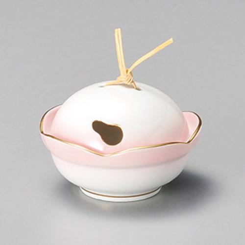 16209-330 瓢抜ピンク蓋付珍味 業務用食器カタログ陶里30号