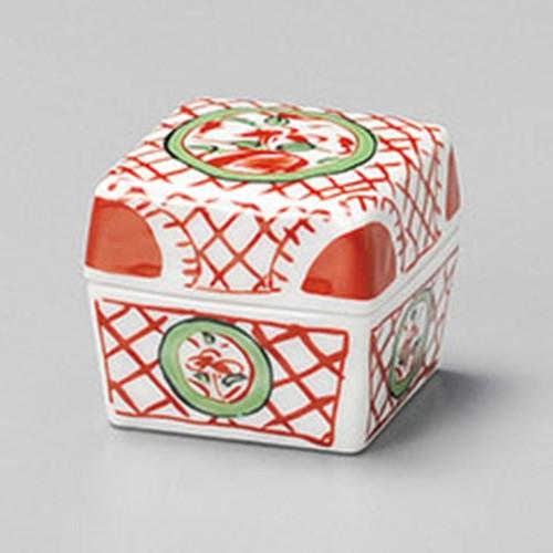 16212-410 花鳥角珍味フタ物 業務用食器カタログ陶里30号