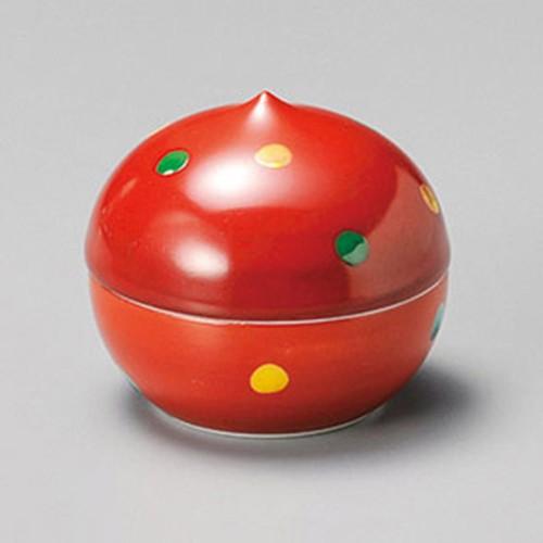 16215-120 朱巻水玉蓋珍味(大) 業務用食器カタログ陶里30号