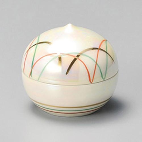 16220-120 ラスターすすき蓋珍味(小) 業務用食器カタログ陶里30号
