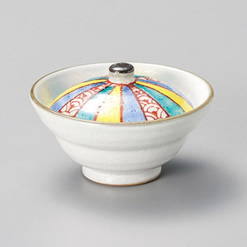 16227-450 粉引紙風船蓋付珍味 業務用食器カタログ陶里30号
