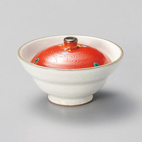 16228-450 粉引シャボン玉蓋付珍味 業務用食器カタログ陶里30号
