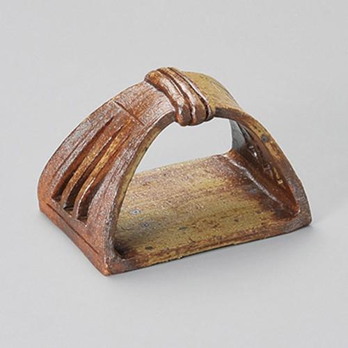 16302-180 備前風かまくら手さげ皿(小)|業務用食器カタログ陶里30号