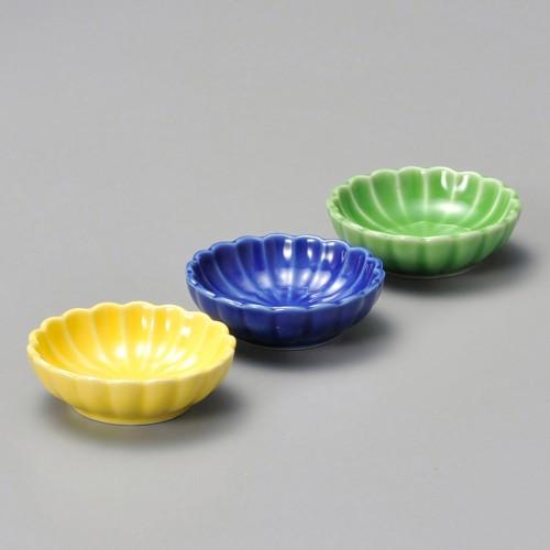 16319-220 菊型木枠付珍味(小)揃|業務用食器カタログ陶里30号