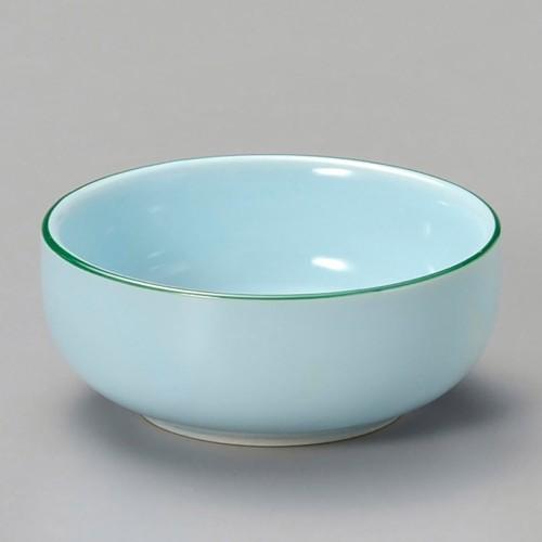 16321-120 ブルー渕グリーン丸珍味|業務用食器カタログ陶里30号