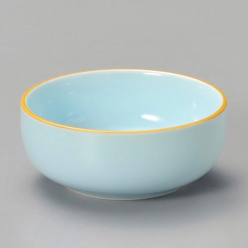 16322-120 ブルー渕黄丸珍味|業務用食器カタログ陶里30号