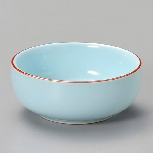 16323-120 ブルー渕赤丸珍味|業務用食器カタログ陶里30号