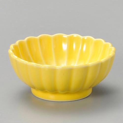 16326-220 菊型珍味(大)黄|業務用食器カタログ陶里30号