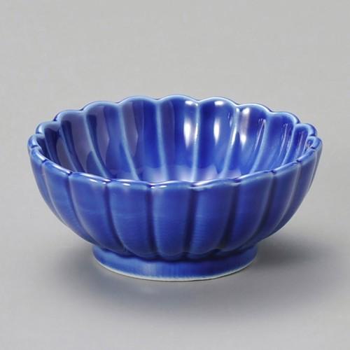 16327-220 菊型珍味(大)ルリ|業務用食器カタログ陶里30号