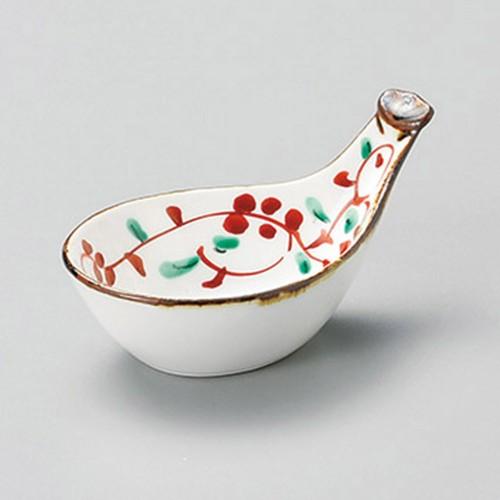16409-320 赤絵びわ型珍味|業務用食器カタログ陶里30号
