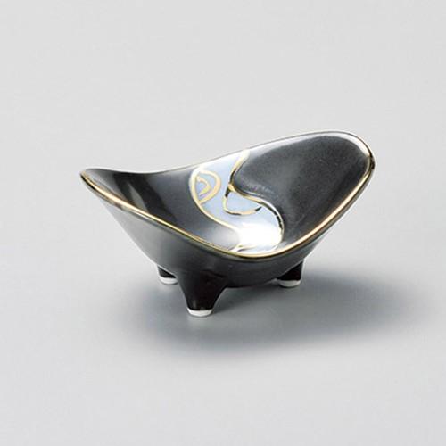 16410-180 黒釉流水金彩石庭珍味|業務用食器カタログ陶里30号