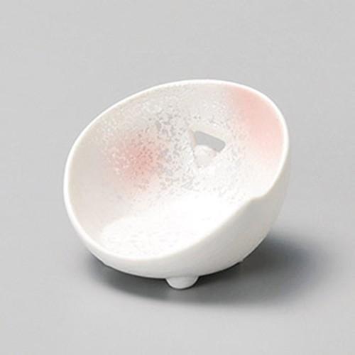 16413-010 ピンク吹ラスターかまくら型珍味|業務用食器カタログ陶里30号