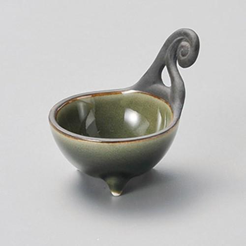 16420-310 桃山織部ビワ型手付き珍味|業務用食器カタログ陶里30号
