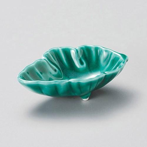 16425-460 緑交趾 葉形千代口|業務用食器カタログ陶里30号