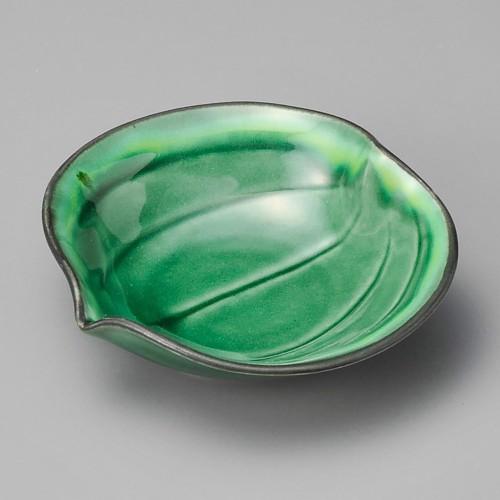 18002-080 緑釉黄流山帰来小鉢 業務用食器カタログ陶里30号