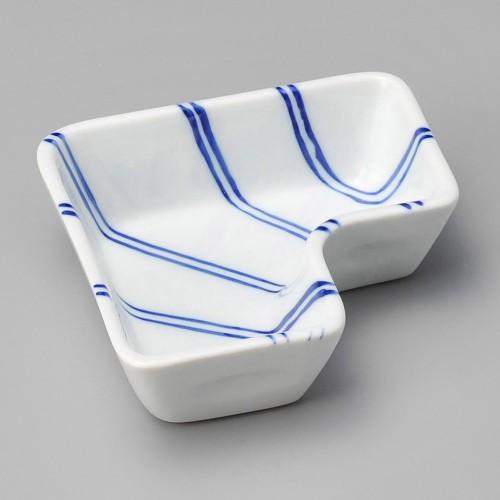 18021-120 ストライプL字鉢 業務用食器カタログ陶里30号