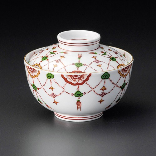19201-400 赤絵瓔珞中蓋向 業務用食器カタログ陶里30号
