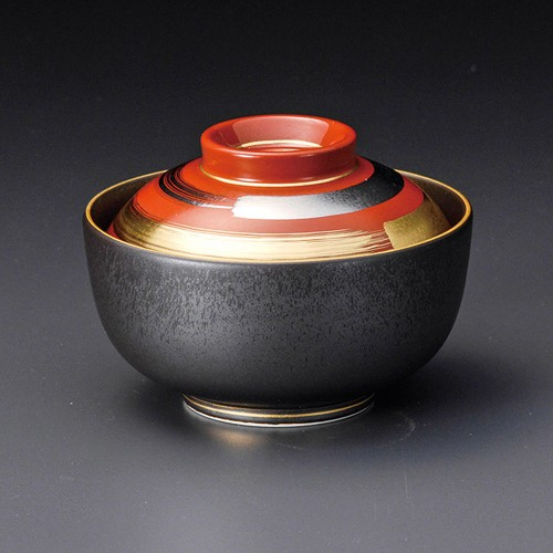 19202-120 朱巻光輪円菓子碗 業務用食器カタログ陶里30号