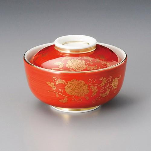 19205-450 赤巻唐草円菓子碗 業務用食器カタログ陶里30号