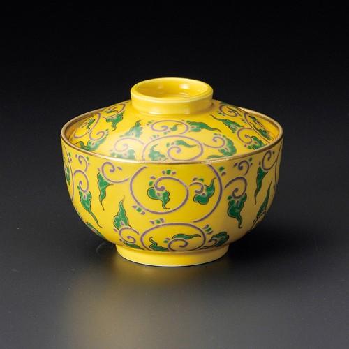 19206-010 黄釉色絵唐草煮物碗 業務用食器カタログ陶里30号