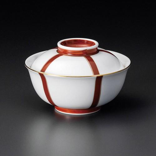 19209-120 ぼんぼり(朱)反小蓋向 業務用食器カタログ陶里30号