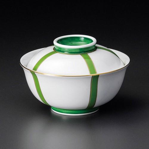 19210-120 ぼんぼり(グリーン)反小蓋向 業務用食器カタログ陶里30号