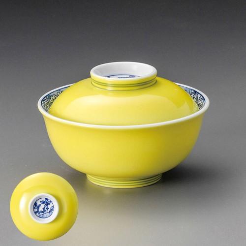 19211-120 染付黄福小蓋向 業務用食器カタログ陶里30号