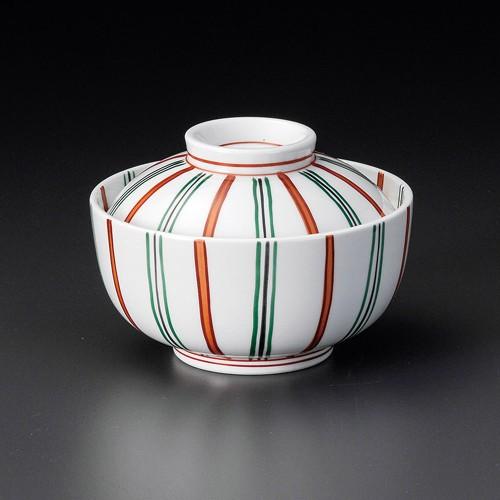 19216-320 赤絵二色十草円菓子碗 業務用食器カタログ陶里30号