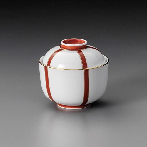 19301-120 ぼんぼり(朱)丸小蓋向 業務用食器カタログ陶里30号