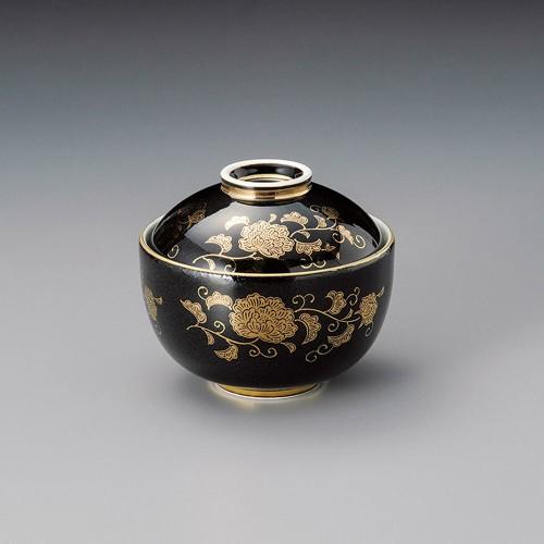 19303-450 黒金唐草玉型円菓子碗 業務用食器カタログ陶里30号