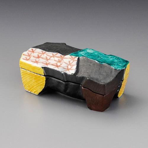 19801-180 三色交趾角蓋物|業務用食器カタログ陶里30号