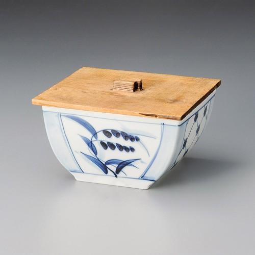 19804-180 古染古花角鉢|業務用食器カタログ陶里30号