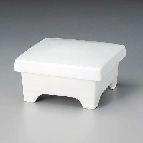 19810-460 白マット角形重箱蓋向|業務用食器カタログ陶里30号