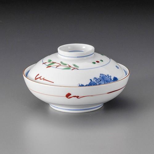 19820-080 赤絵京山水蓋向|業務用食器カタログ陶里30号
