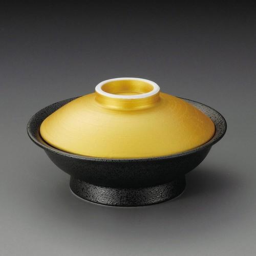 20009-010 金彩黒油滴平蓋向|業務用食器カタログ陶里30号