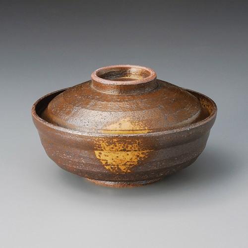 20014-180 華備前(土物)6.0蓋物|業務用食器カタログ陶里30号