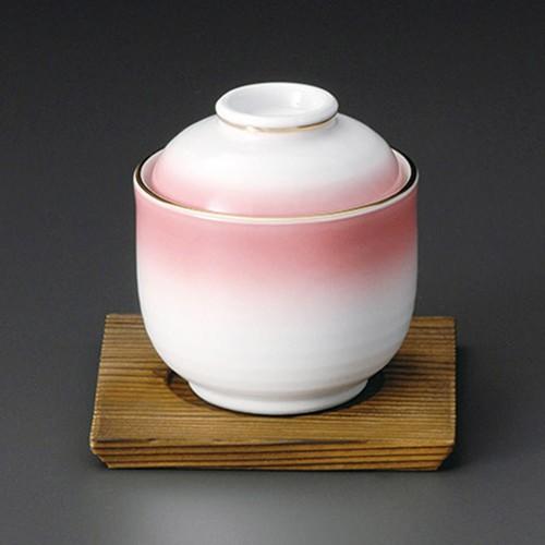 20116-320 ピンクむし碗|業務用食器カタログ陶里30号