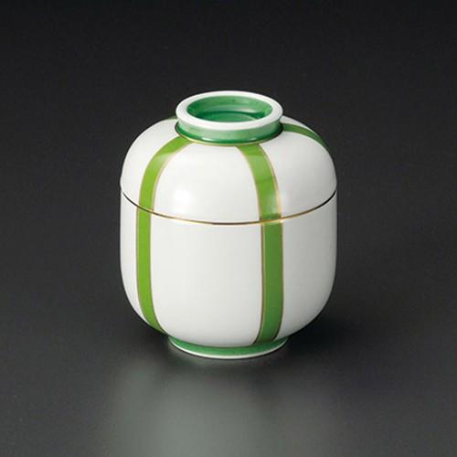 20201-120 ぼんぼり(グリーン)ミニむし碗 業務用食器カタログ陶里30号