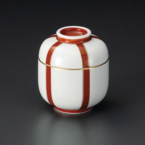 20202-120 ぼんぼり(朱)ミニむし碗 業務用食器カタログ陶里30号