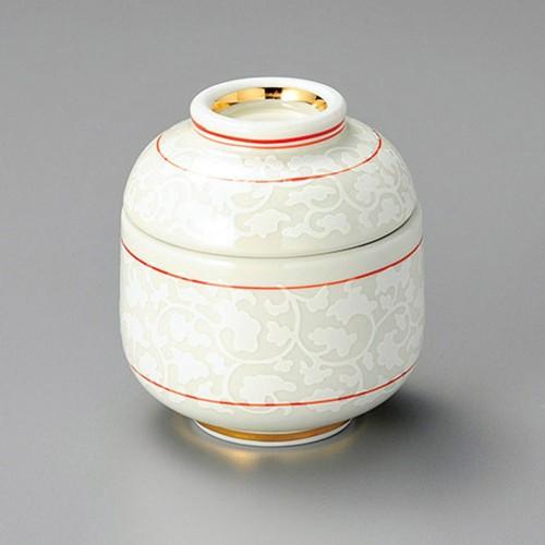 20220-010 白唐草だるま型小むし碗 業務用食器カタログ陶里30号