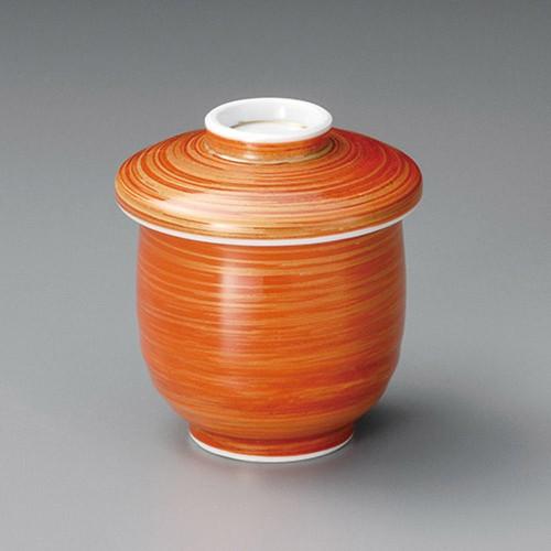 20506-330 朱巻金刷毛目むし碗|業務用食器カタログ陶里30号