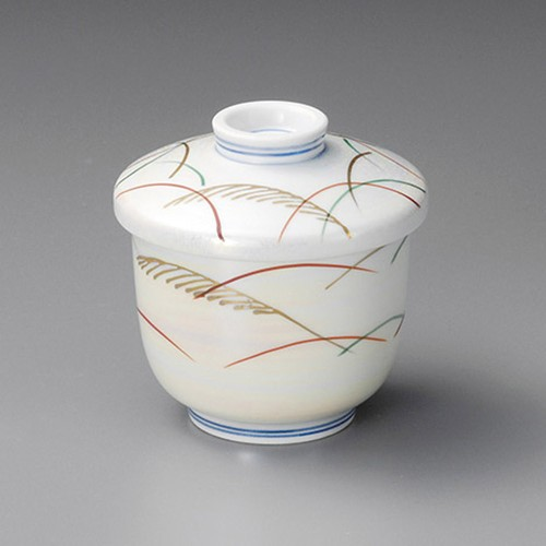 20507-120 ラスターすすき京形むし碗|業務用食器カタログ陶里30号