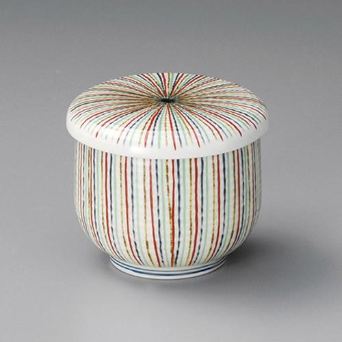 20513-300 黄磁千本十草むし碗|業務用食器カタログ陶里30号