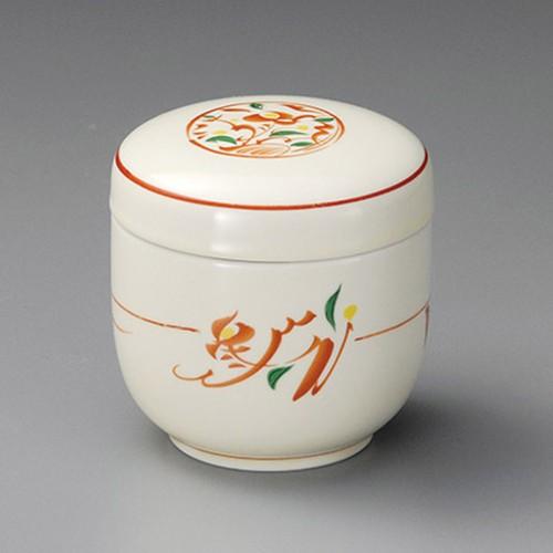 20515-050 赤絵みのり夏目むし碗|業務用食器カタログ陶里30号