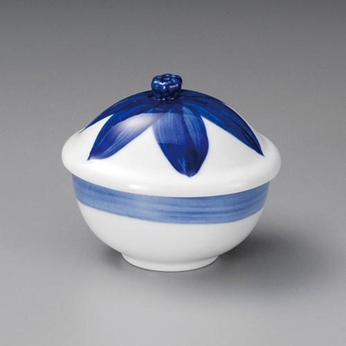 20520-050 ブルー花だえんむし碗|業務用食器カタログ陶里30号