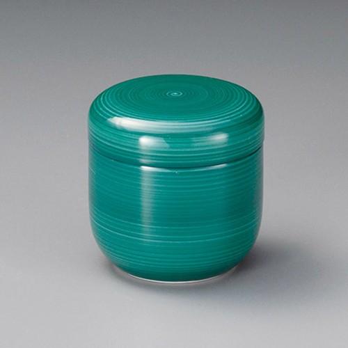 20528-320 グリーン巻夏目型むし碗|業務用食器カタログ陶里30号