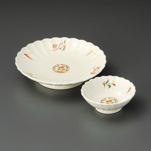 21014-050 赤絵みのり菊型天皿|業務用食器カタログ陶里30号